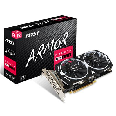PLACA DE VIDEO PCI-E 8GB RX570 ARMOR 8G OC MSI